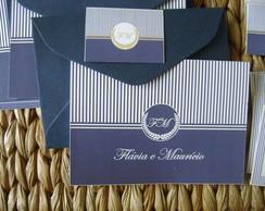 Kit cart�es: Monograma Marinho