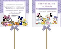Convite Pirulito: Baby Disney lil�s