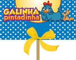 Lembrancinha Pirulito:Galinha Pintadinha