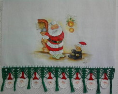 Pano de copa natalino.