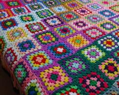 Colcha de Croch� Casal - Colorida
