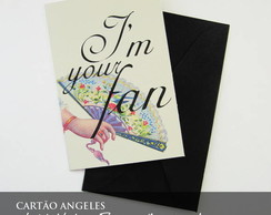 Cart�o Vintage Press - I'm Your Fan
