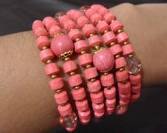 pulseira rosa