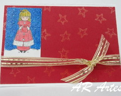 Cart�o de Natal (menina)