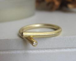 Anel Abra�o com banho de ouro
