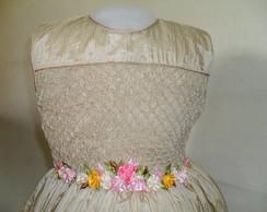 belissimo vestido de tafeta