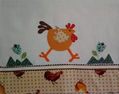 Pano de copa, galinha espantada.