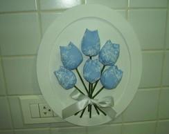 quadrinho com tulipas