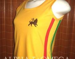 Camiseta Regata Reggae Artesanal AMARELA
