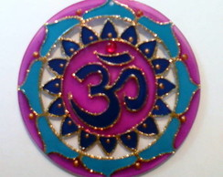 Mandala vitral OM Azul e Violeta