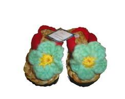 Sand�lia com flor de croch� n�20