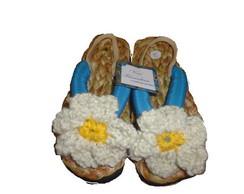 Sand�lia com flor de croch� n�26