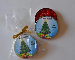 Latinha com balinha personalizada Natal