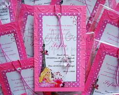 Convite Marcador - Barbie Moda e Magia