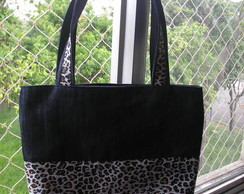 BOLSA JEANS BARRADA ON�A