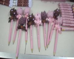 kits para festa marrom e rosa...