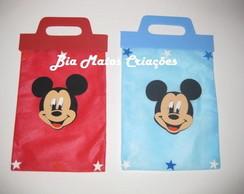 Sacola lembrancinhas Mickey e Minnie