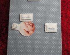 Caderno de mensagens para ch� de beb�