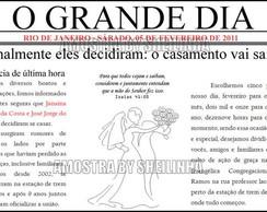 Convite Casamento noticia de Jornal