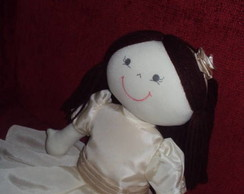 Boneca de pano daminha princesa KATE