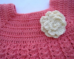 Vestido para beb� em croch�