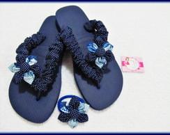 chinelo customizado em tecido e rabic�