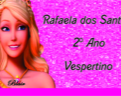 ETIQUETA BARBIE ESCOLA DE PRINCESAS 2