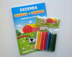 Kit de Colorir Personalizado - Fazenda