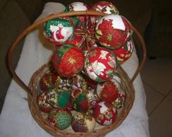 Bolas de natal em tecido patchwork - n�7