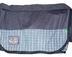 Bolsa Escolar Infantil Azul - tecido PET