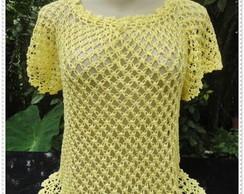 Blusa Amarela em Ponto Segredo