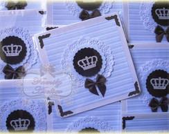 Convite Pequeno Pr�ncipe- Coroa Prata