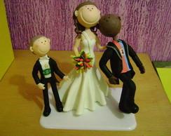 noiva puxando noivo