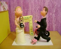 topo de bolo noivo triatl�ta