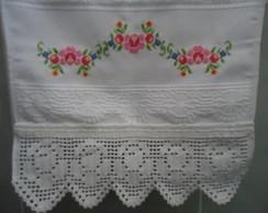 Toalha de Lavabo - Rosinhas (croch�)
