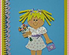 Caderno menina flor