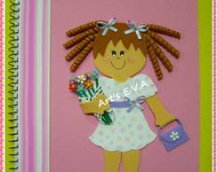 Caderno menina flor 2