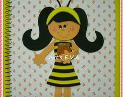 Caderno menina abelhinha