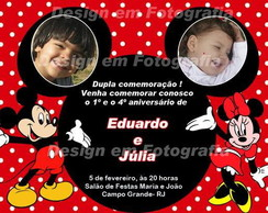 Convite de Irm�os, Mickey e Minnie