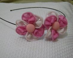 Tiara 2 flores (ziper)