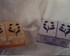 Caixa de bijuterias com 9 divis�rias
