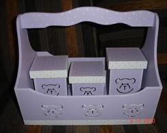 Organizador beb� - cesta com al�a