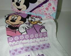 Caixa Mdf personalizada c/ toalha disney