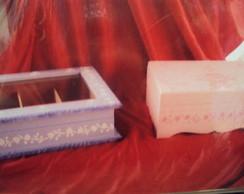 Caixa de Maquiagem Rosa