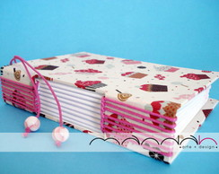 Caderno Longstitch Mini - Cupcake