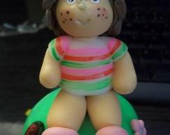 Moranguinho Baby de biscuit no pote