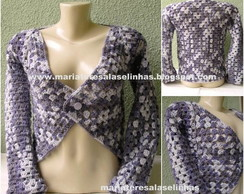 Bolero Crochet Safira - MT4287