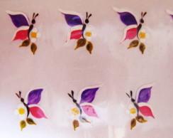 Borboletas roxo com rosa Cod.090