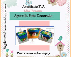 Apostila Pote de Sorvete Decorado