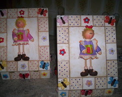 caixa para biju com boneca de biscuit